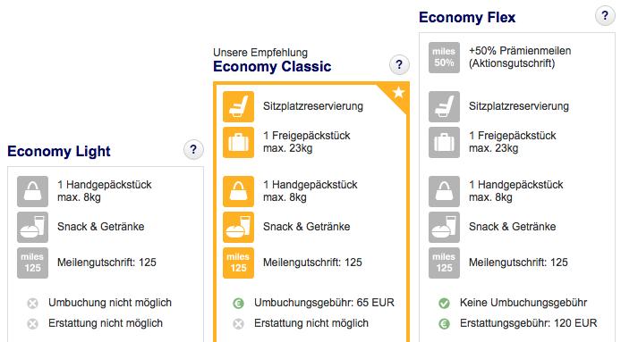 Lufthansa Europa Tickets zum Spezialpreis Tarife