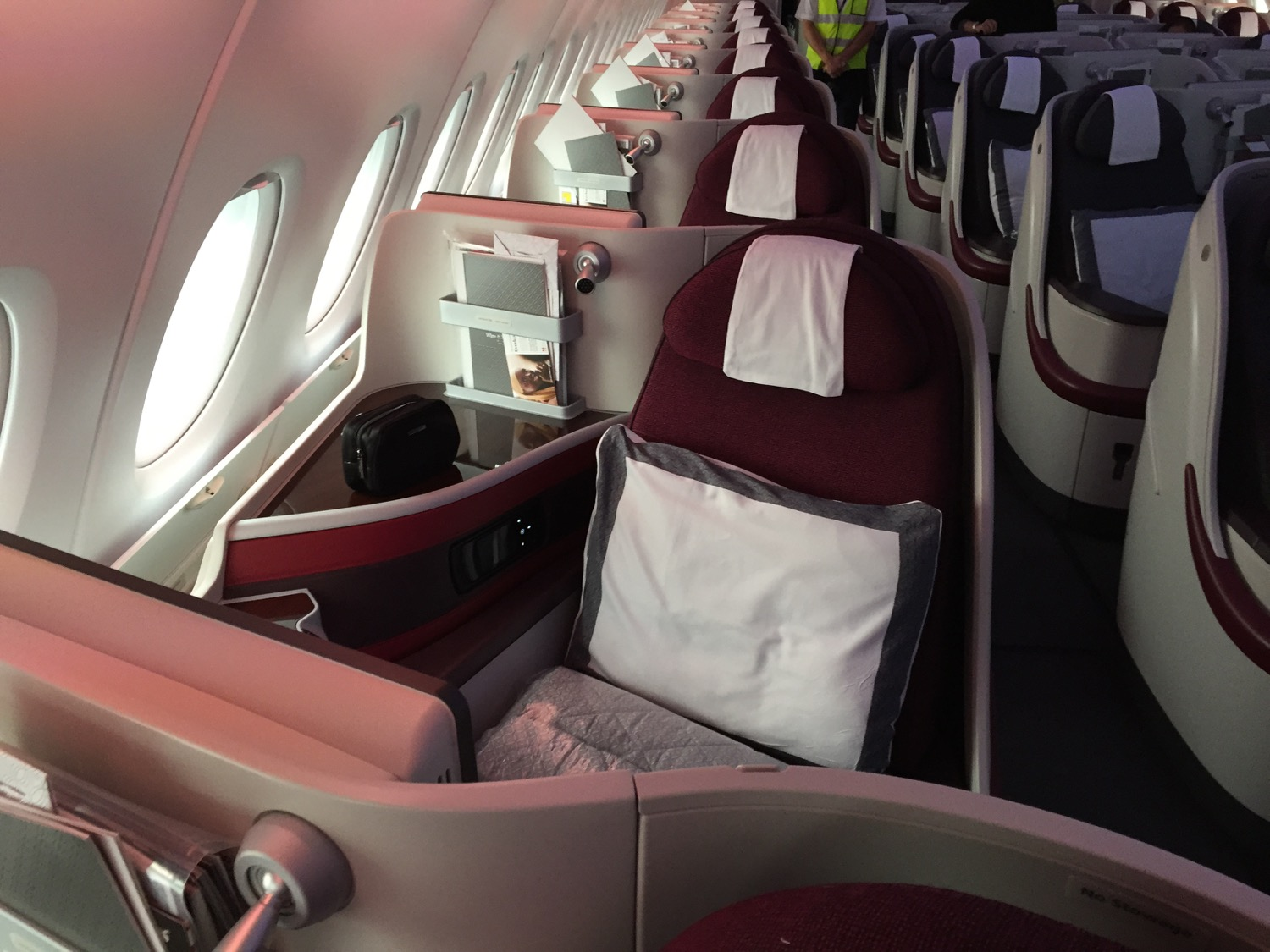 Qatar A380 Sitz Business - 1