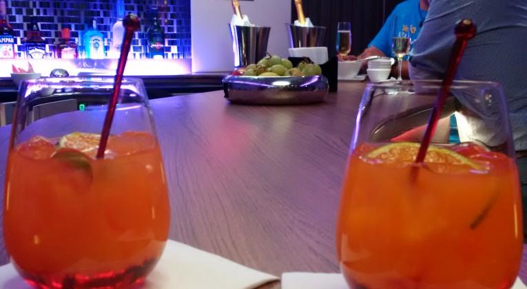 Qatar Airways Business Class A380 Drinks