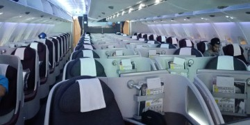 Qatar Airways Business Class A380 Kabine