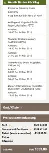 Etihad Airways Gutschein - 10% Rabatt