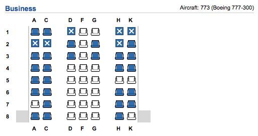 TAM 777 Seatmap