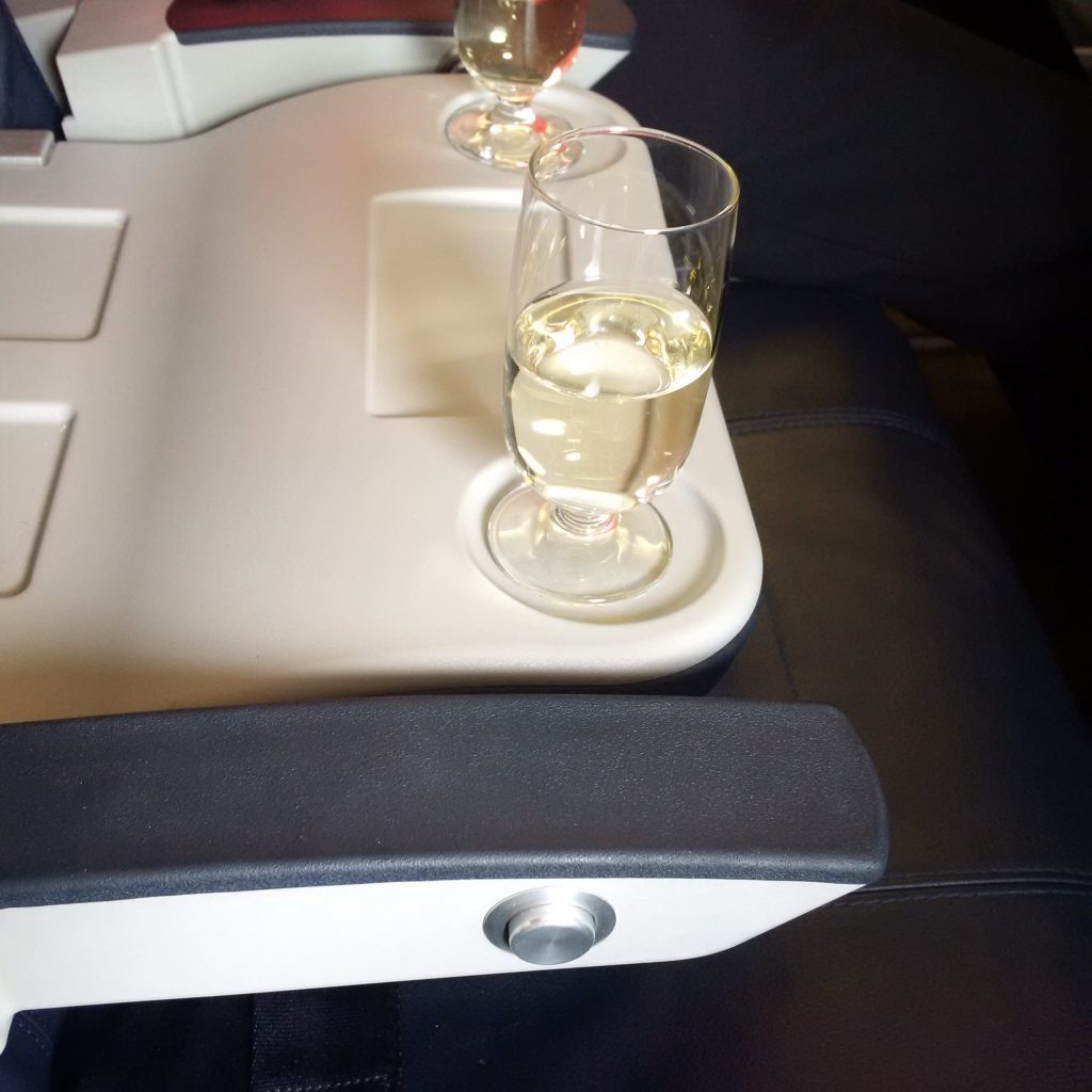 Aegean Airlines Business Class Welcome Drink
