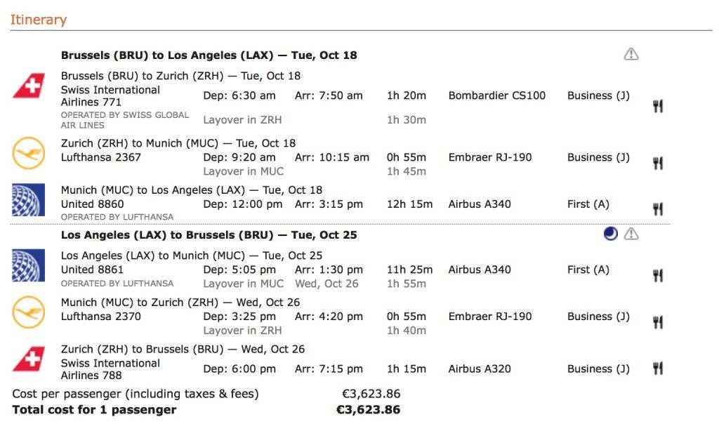 Lufthansa Statusmeilen nach LA sammeln