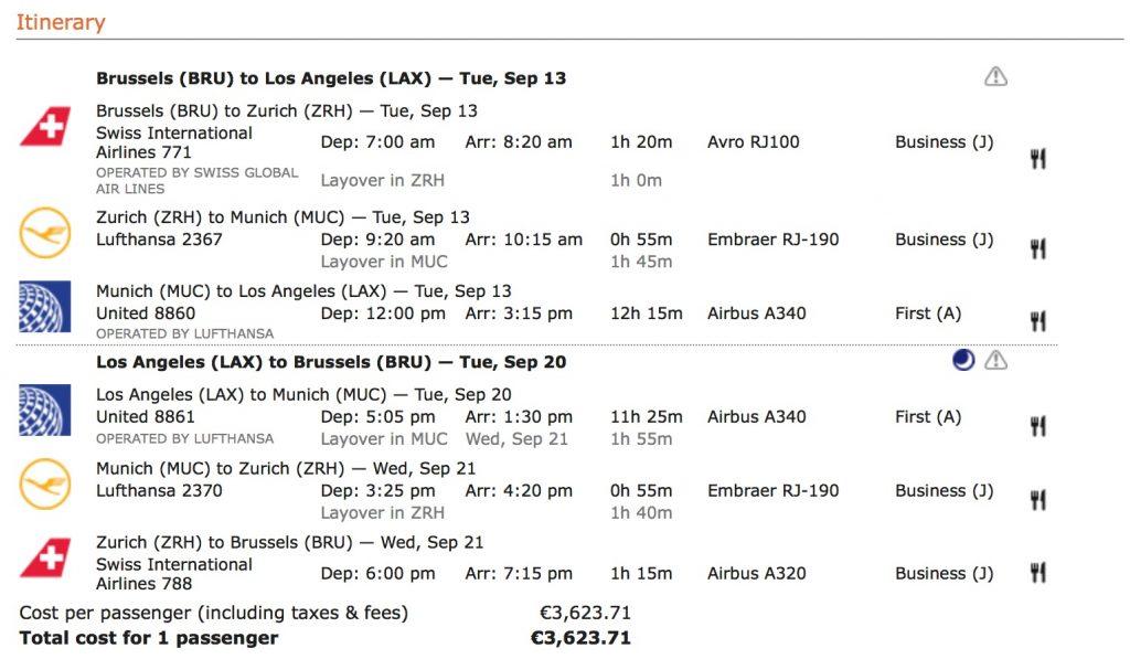 Lufthansa First Class Angebote