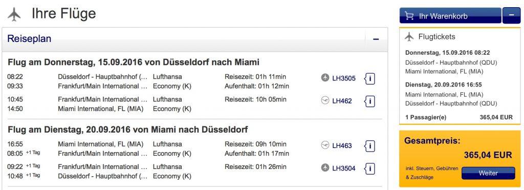 InsideDeals mit Lufthansa nach Miami