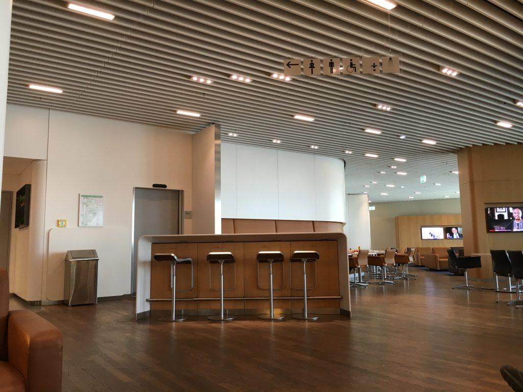 Lufthansa Senator Lounge Frankfurt Abflugbereich A Bartisch