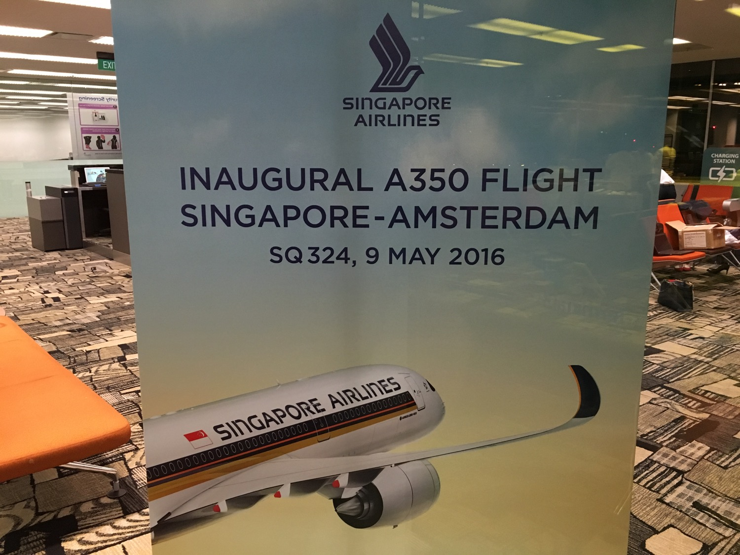 Singapore Airlines A350 Business Class Gate - 1