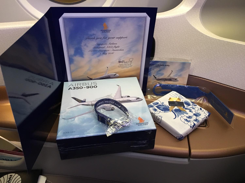 Singapore Airlines A350 Business Class Geschenk - 1
