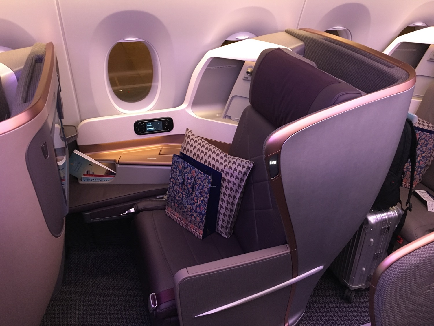 Singapore Airlines A350 Business Class Sitz - 1 (1)