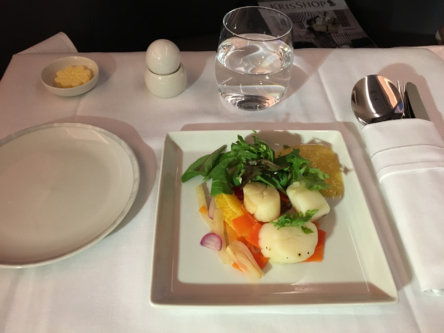 Singapore Airlines A350 Business Class Supper - 1