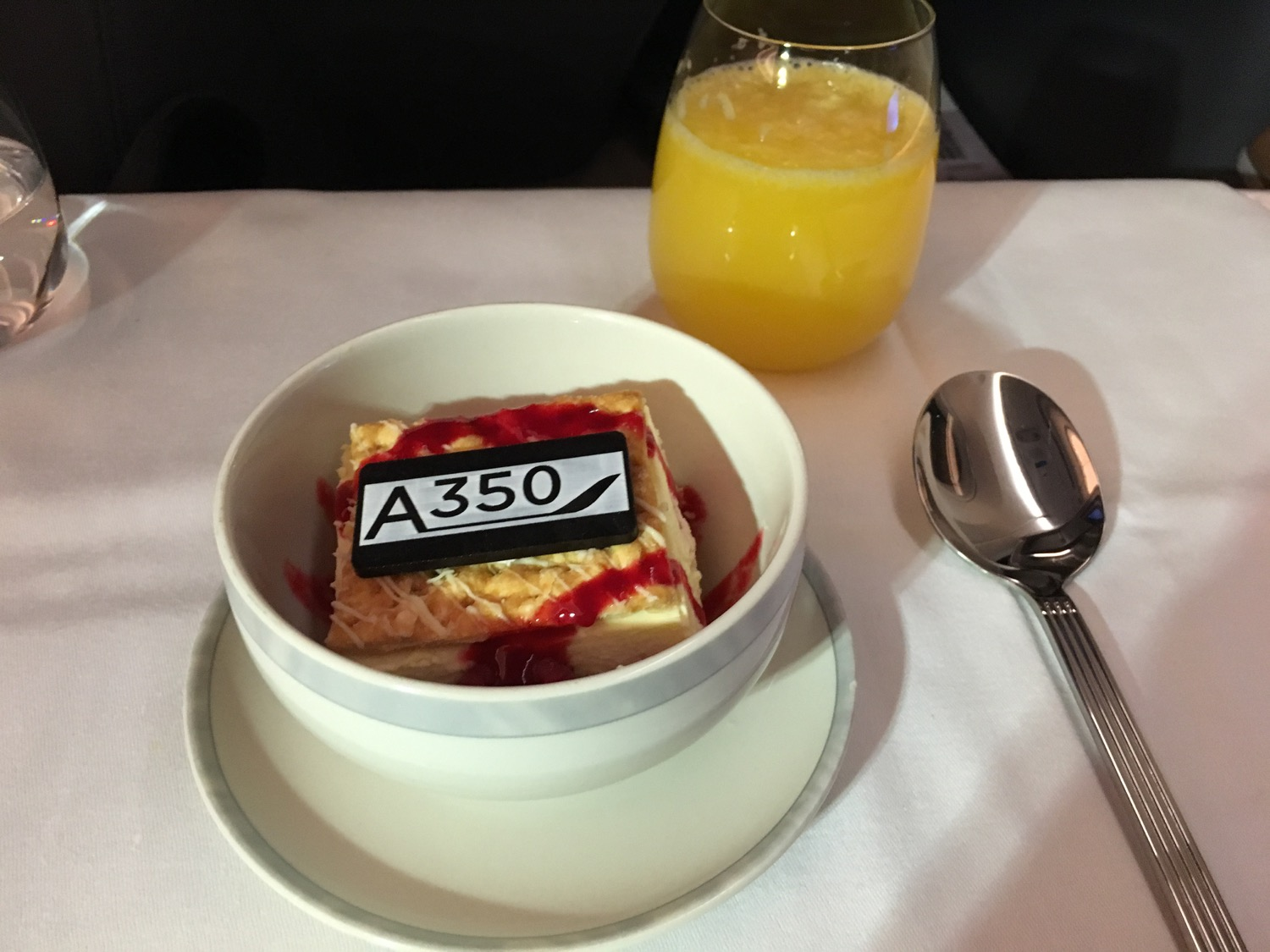 Singapore Airlines A350 Business Class Supper - 3