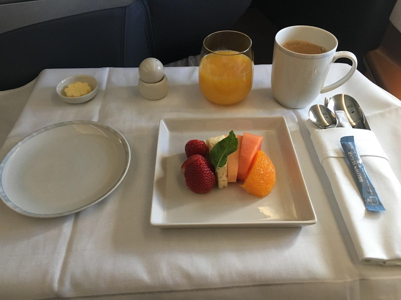 Singapore Airlines A350 Business Frühstück - 1