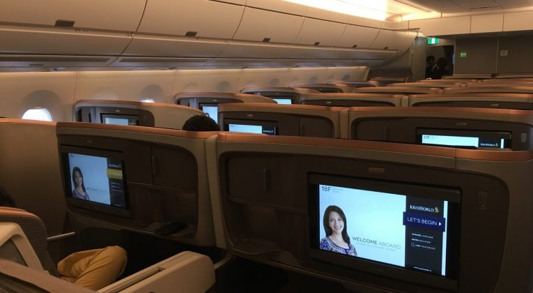 Singapore Airlines A350 Kabine - 1