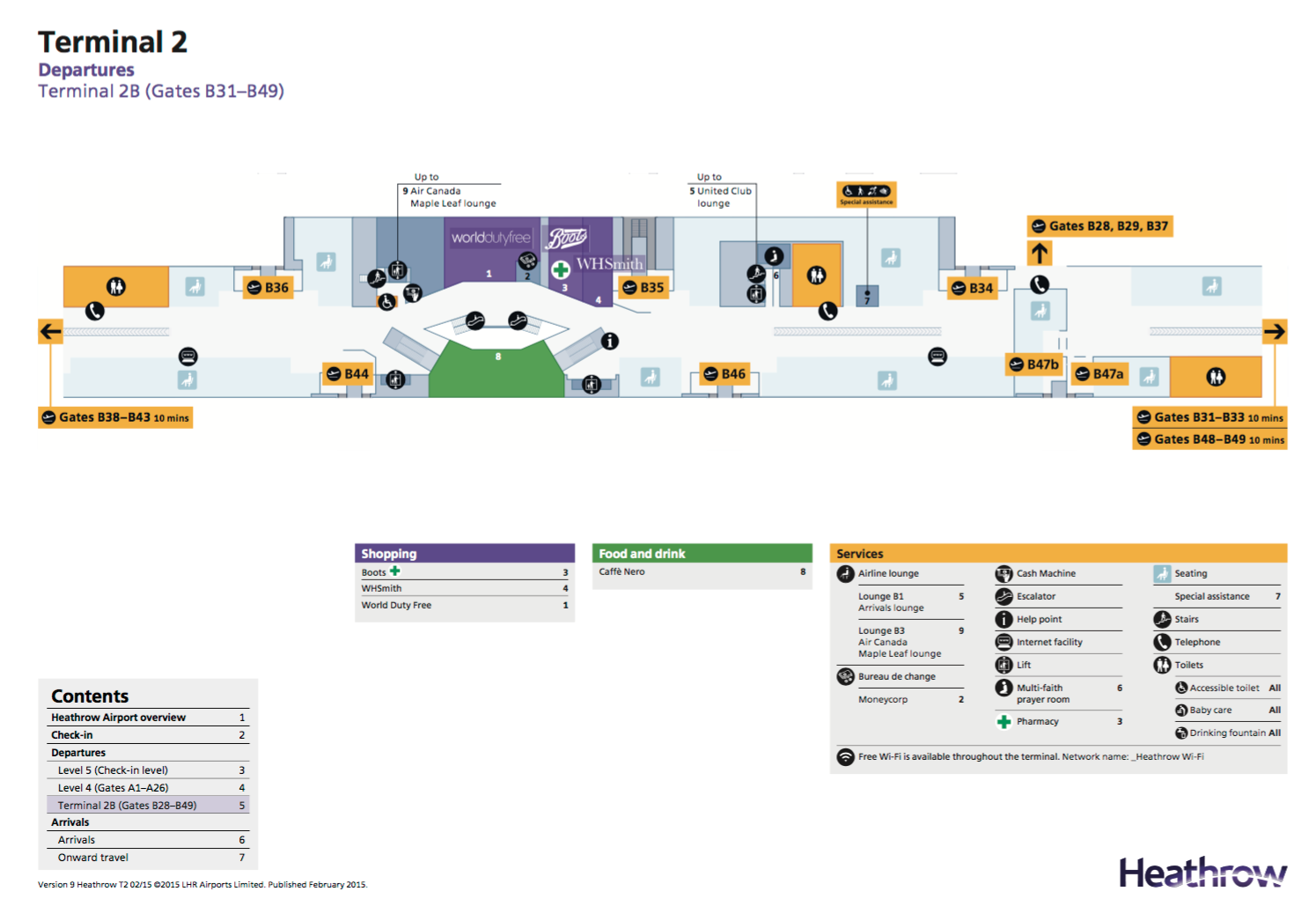 United Club London Heathrow T2 - Map