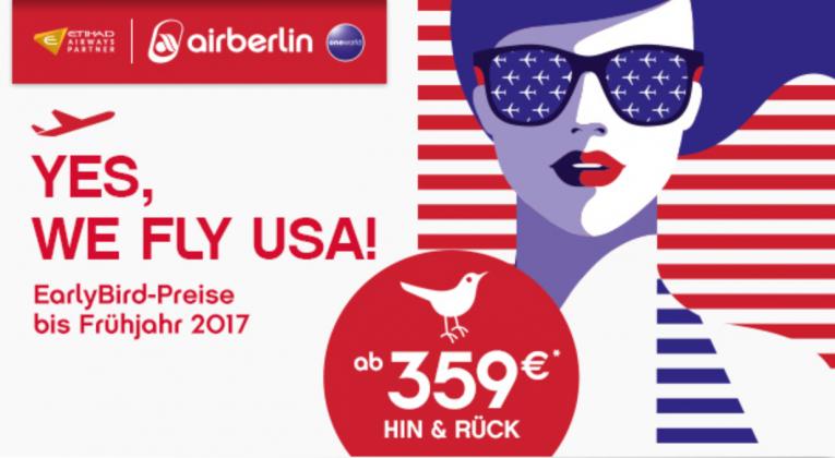 airberlin Frühbucher Angebote