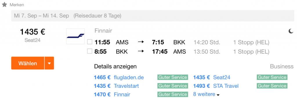 InsideDeals Finnair Business Class