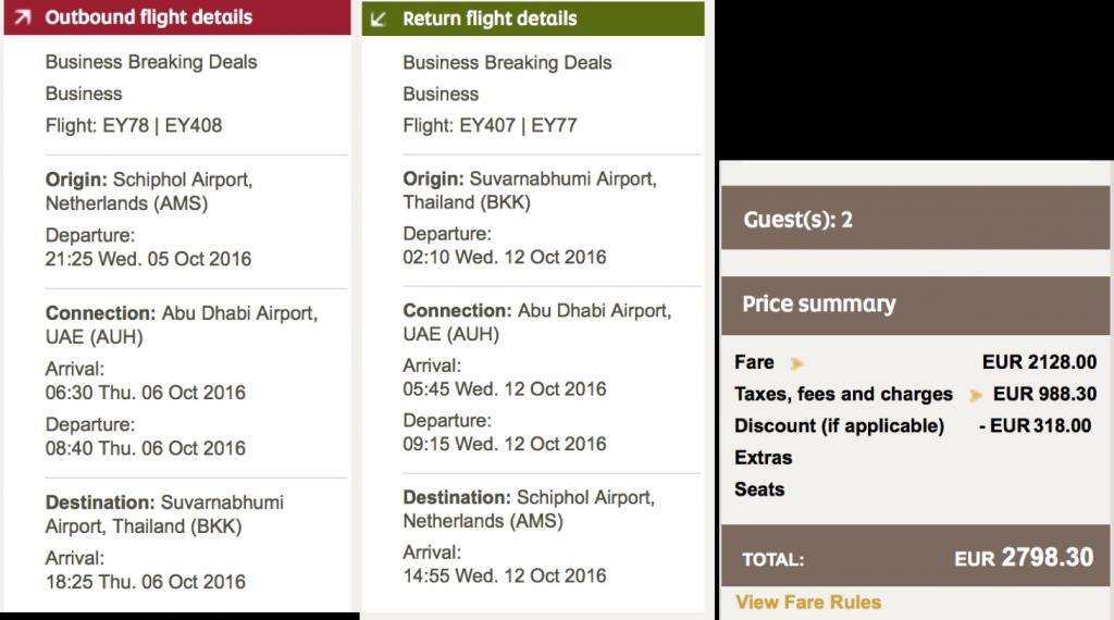 Etihad Airways Gutschein 15 Prozent