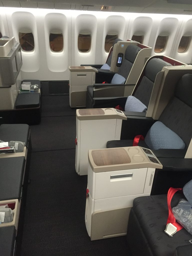 Turkish Airlines Business Class - Sitzanordnung