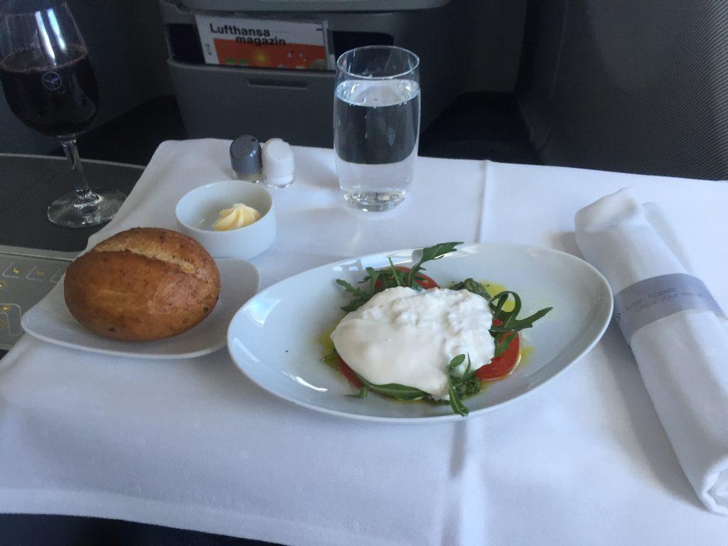 Lufthansa Business- Class - Vorspeise