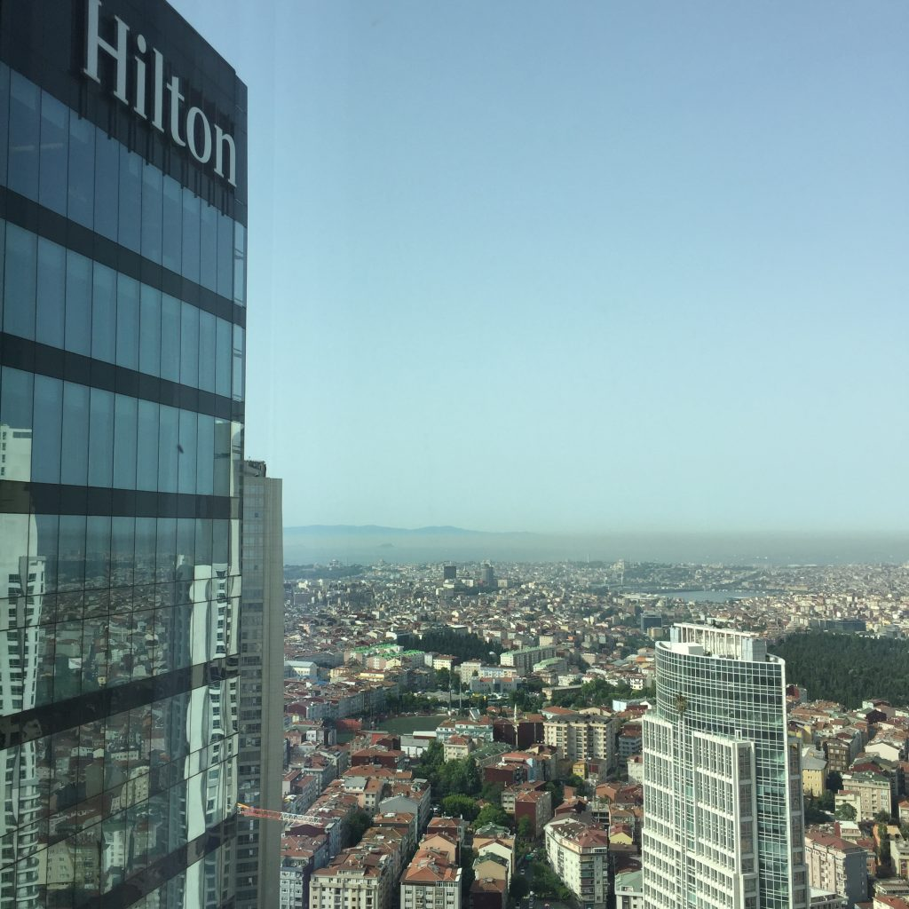 Hilton Istanbul Bomonti  - Ausblick aus der Executive Lounge
