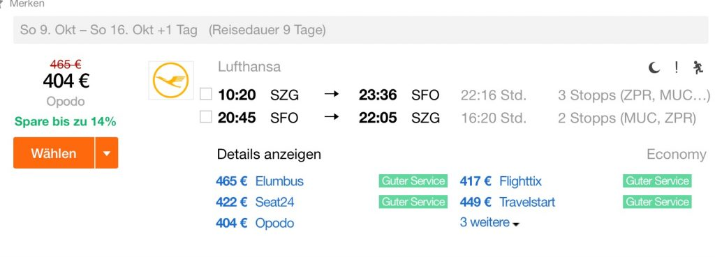 InsideDeals mit Lufthansa nach San Francisco