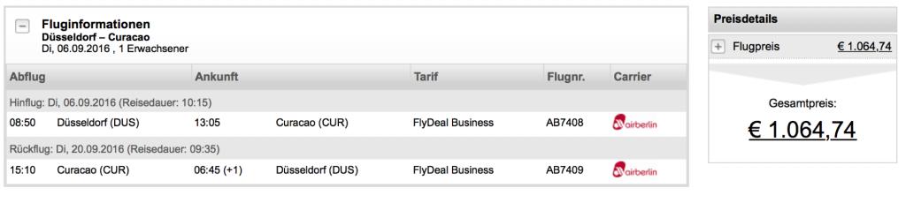 Günstig in der airberlin Business Class in die Karibik