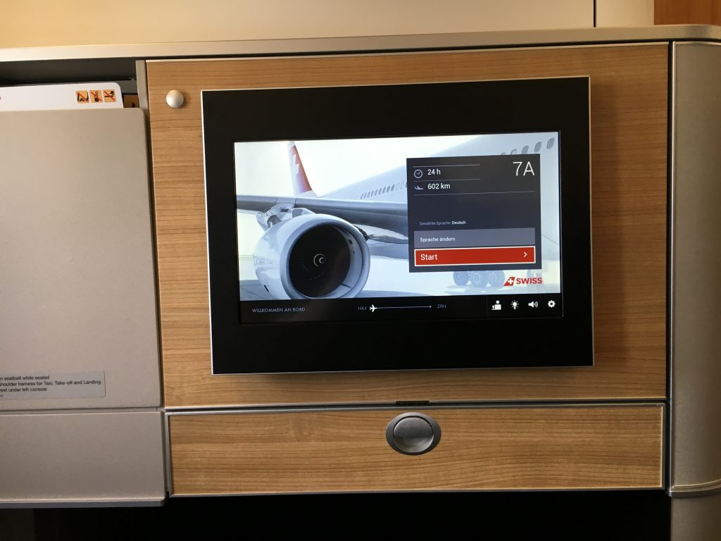 SWISS Boeing 777 Business Class Entertainment