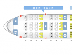 Turkish Airlines Business Class - Seat Map