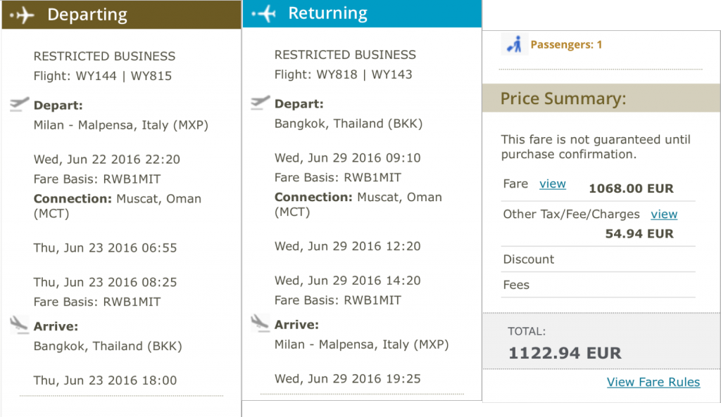 InsideDeals Omanair