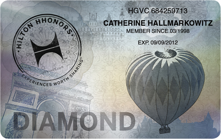 Hilton Honors Status Challenge 2017 Diamond