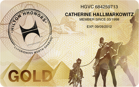 Hilton Honors Status Challenge 2017 Gold