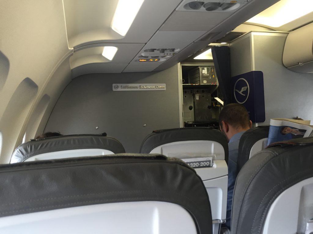 Lufthansa Business Class- Kabine