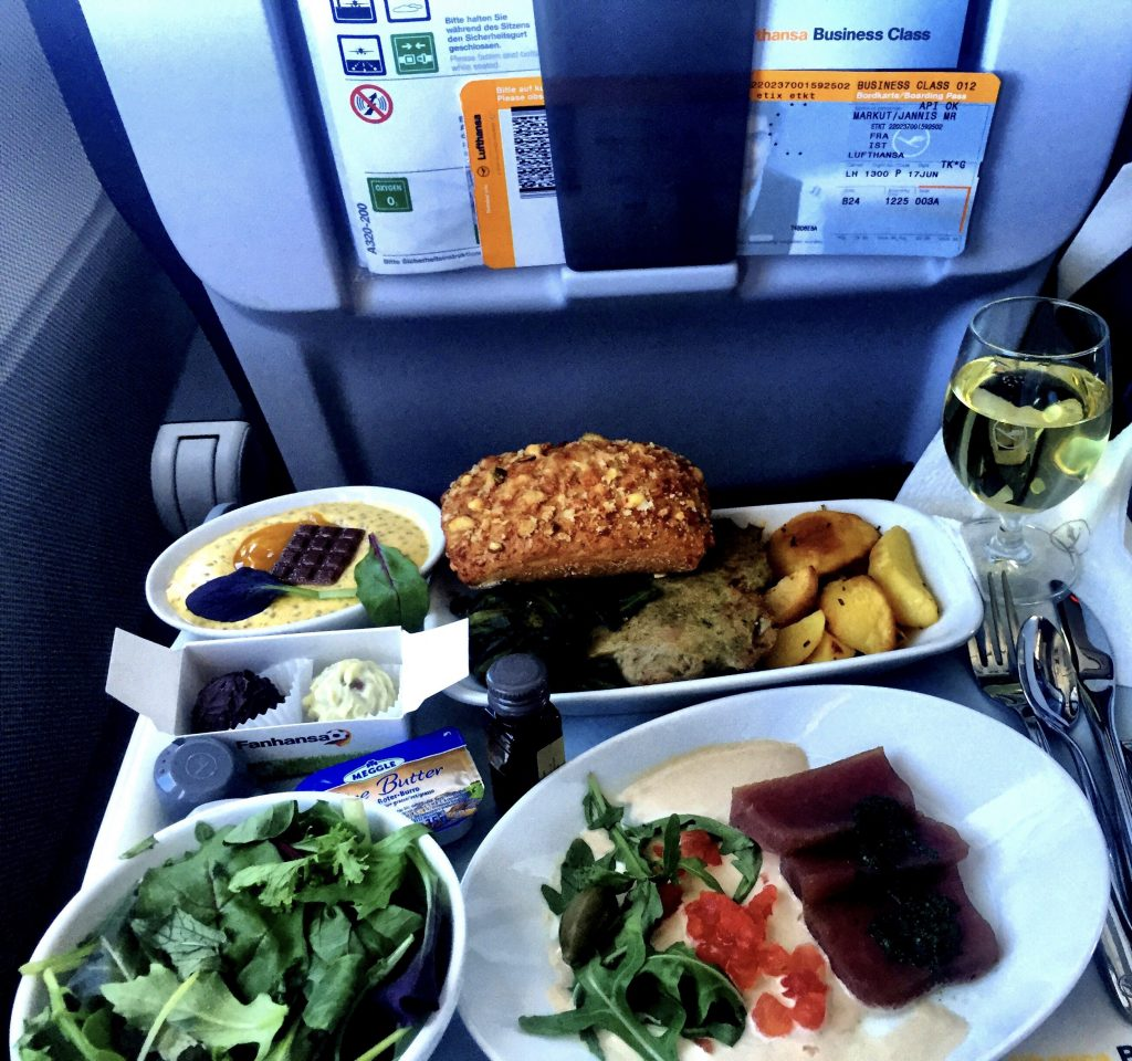 Lufthansa Business Class - Catering