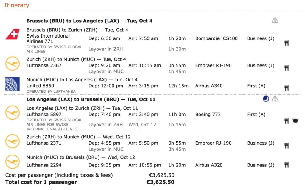 Lufthansa First Class Angebote optimiert
