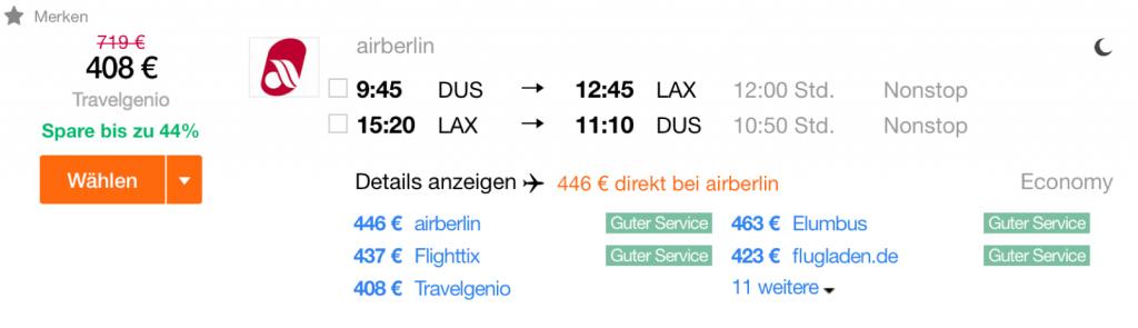 InsideDeals mit airberlin nach LA
