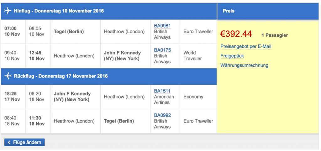 InsideDeals British Airways Gutschein