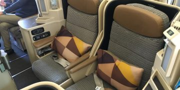 Etihad Airways Business Class Honeymoon Sitze