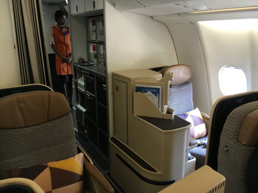 Etihad Airways Business Class Mini Kabine