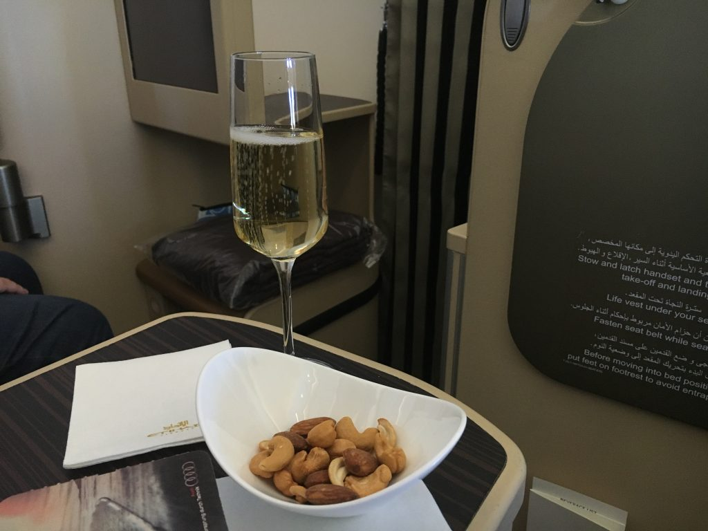 Etihad Airways Business Class Aperitif