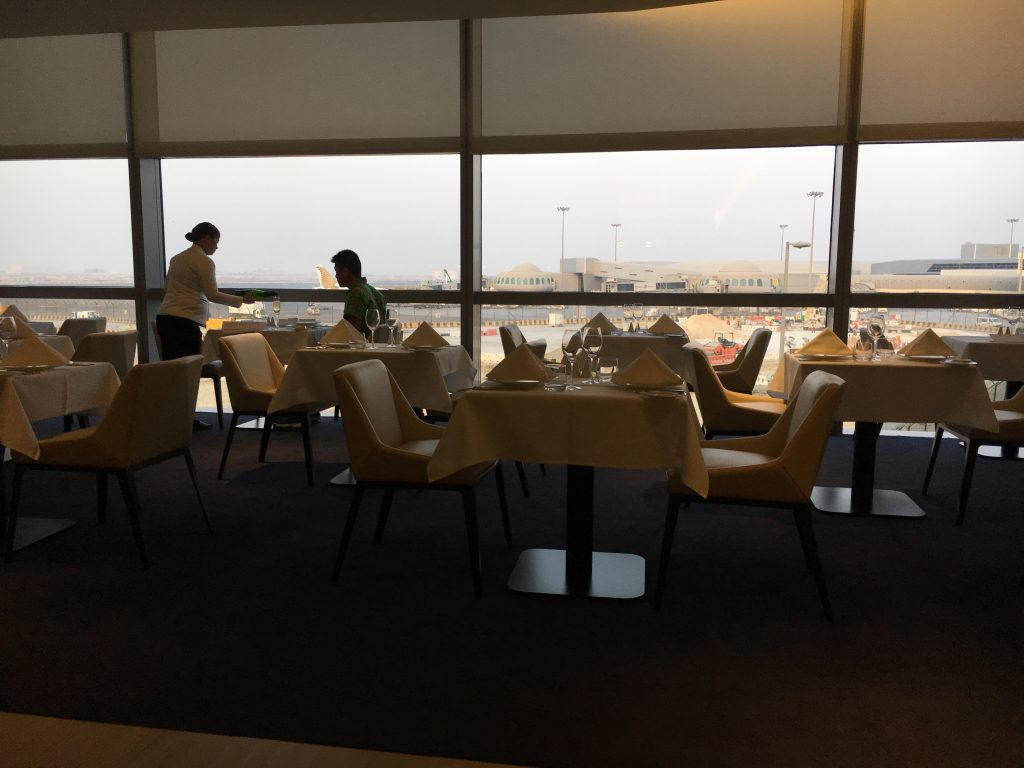 Etihad Airways First Class Lounge & Spa Abu Dhabi Restaurantberieich