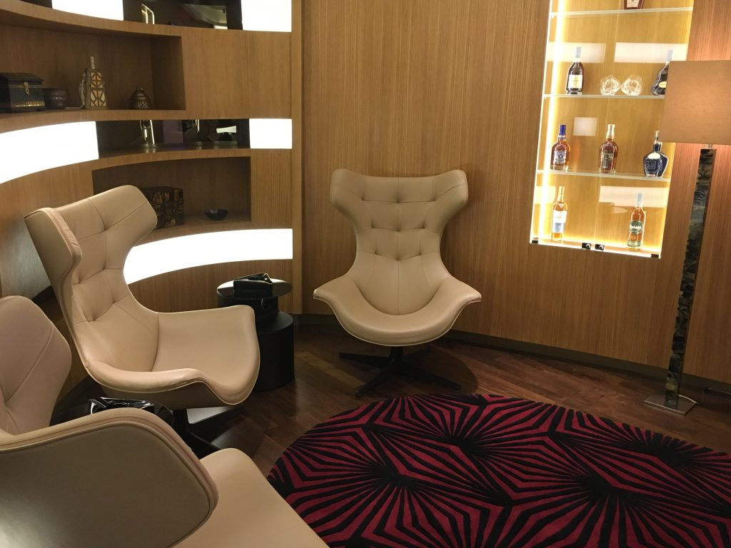 Etihad Airways First Class Lounge & Spa Abu Dhabi Cigar Lounge