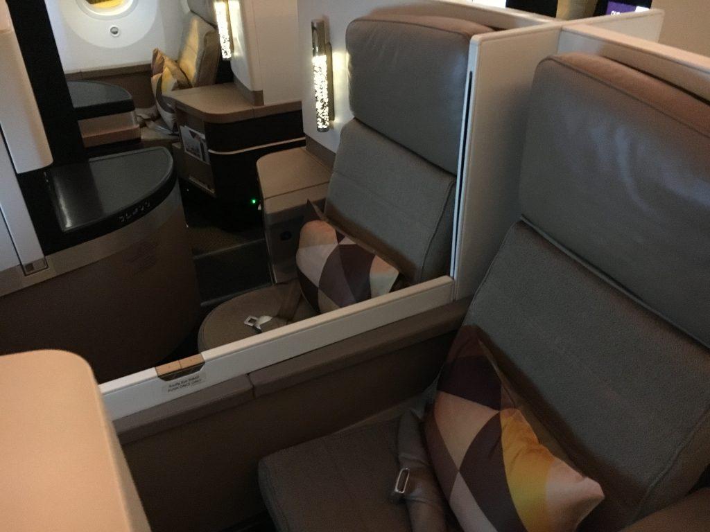 Etihad Airways Business Class Studio