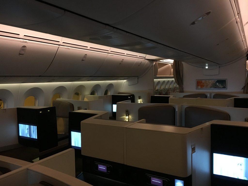 Etihad Airways Business Class Studios Kabine