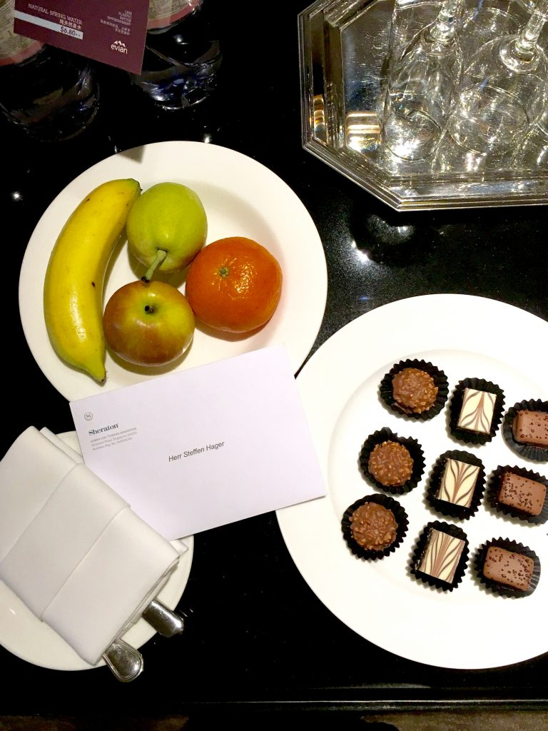 Sheraton Towers Singapore Welcome Treatment