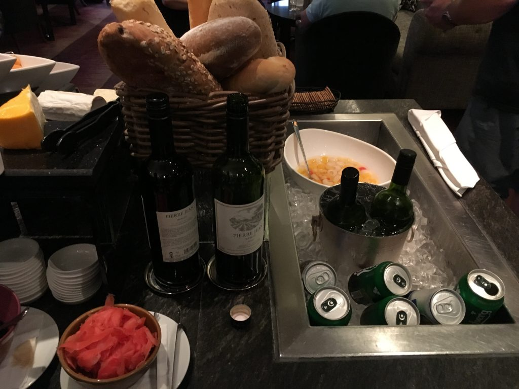 Sheraton Towers Singapore Club Lounge Wein
