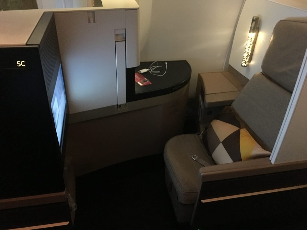 Etihad Airways Business Class