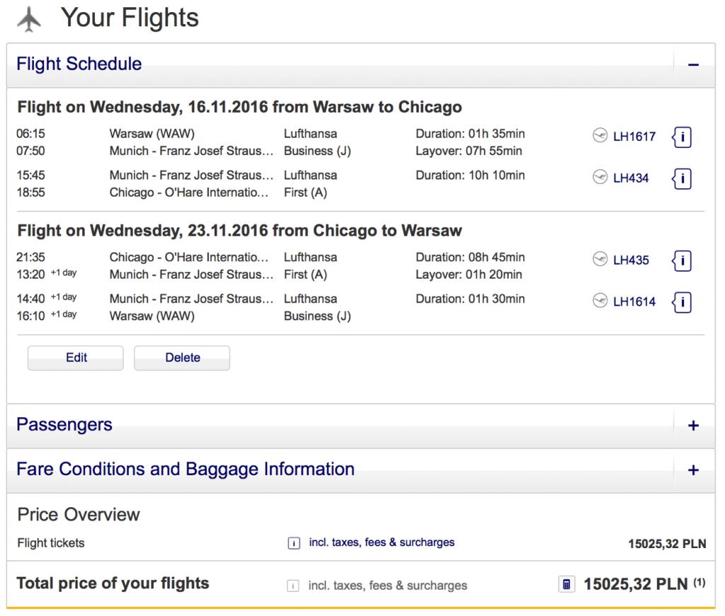 Lufthansa Statusmeilen nach Chicago sammeln