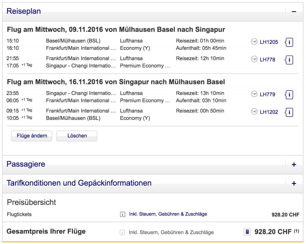 Lufthansa Premium Economy Class Angebote