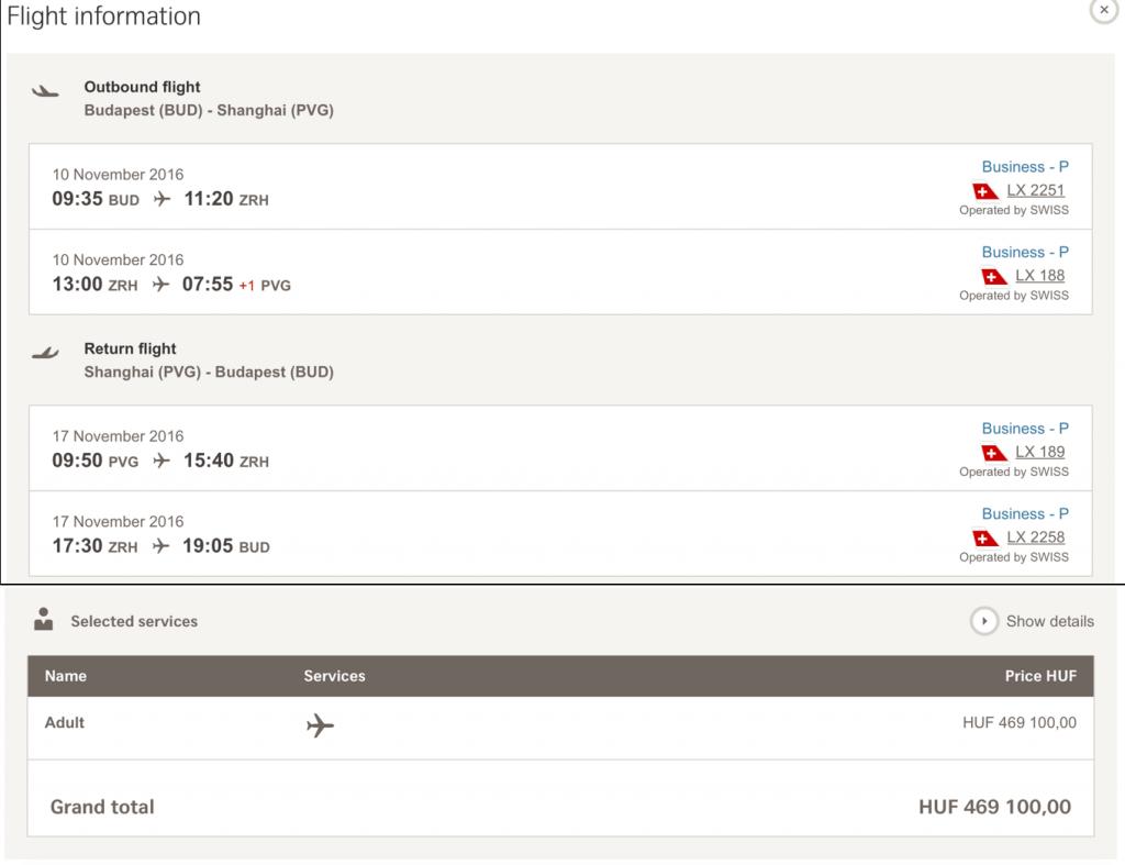 Lufthansa Statusmeilen nach Shanghai sammeln